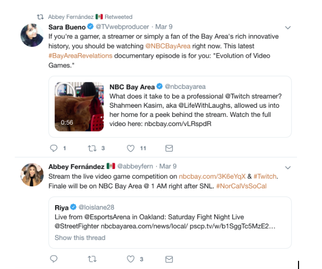 Abbey Fernández is all over social media in Bay Area
