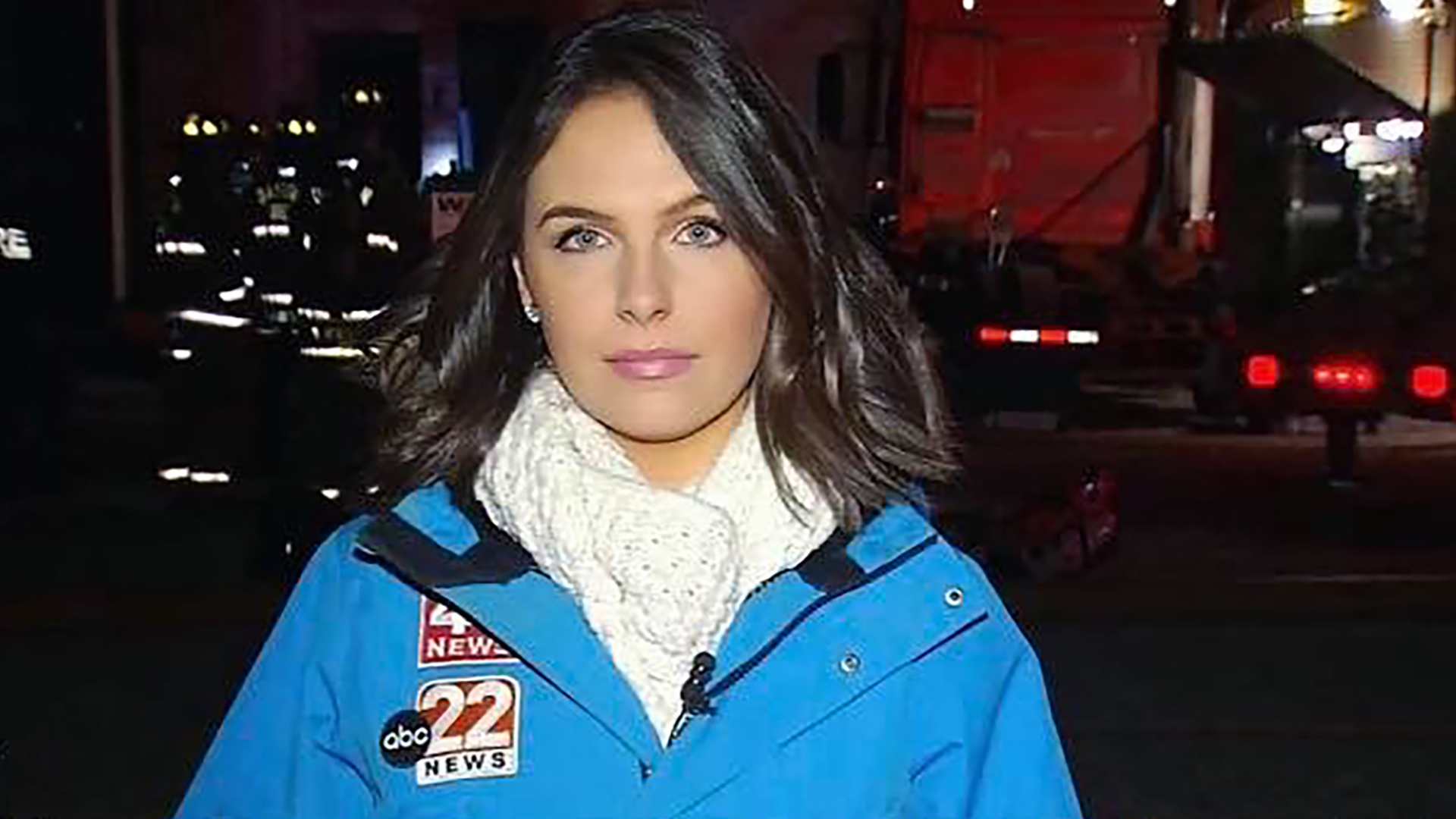 news reporter in front of camera