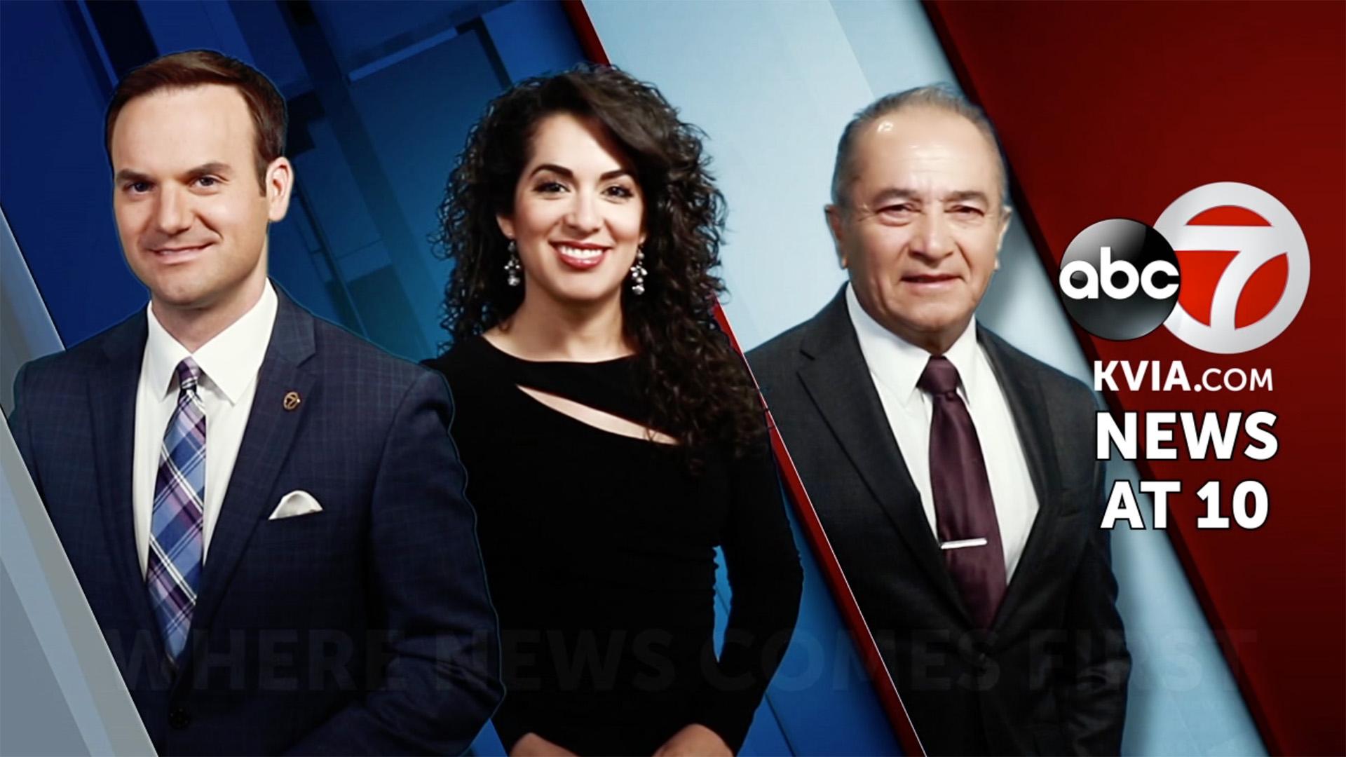 three KVIA El Paso late news anchors